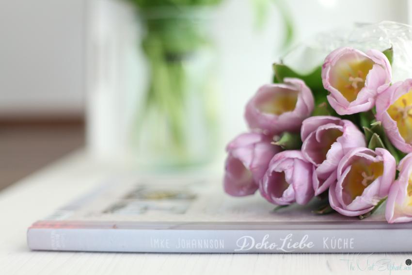 Deko Liebe Einband mit Tulpen