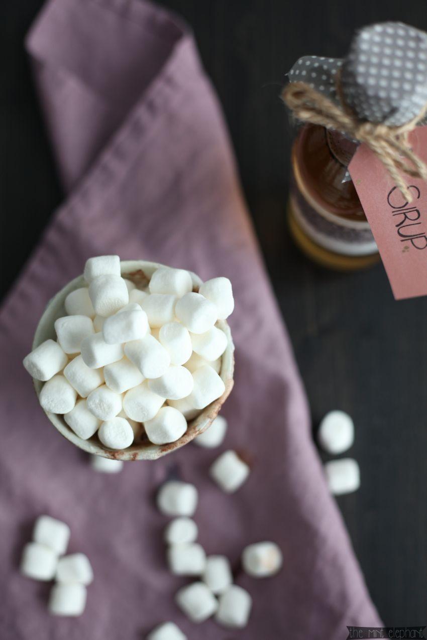 Hot Choc mit Marshmallows vogelperspektive