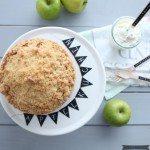 für versunkenen Apfelkuchen mit Vanillestreuseln