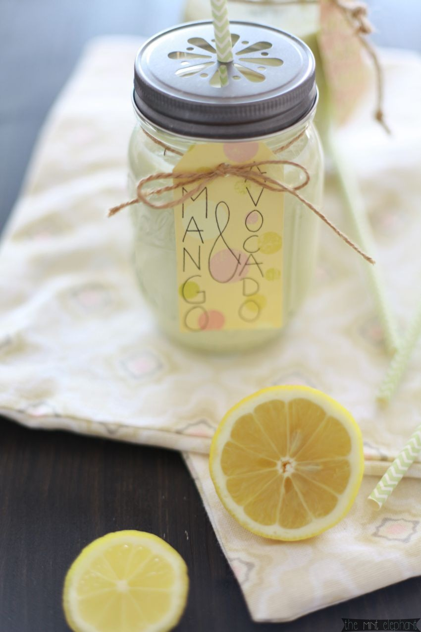 Mango Smoothie mit Zitrone
