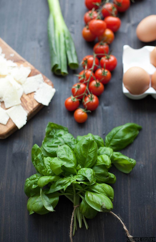 Zutaten für Basilikumpfannkuchen