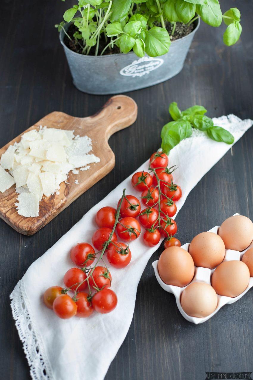 Zutaten für Kräuterpfannkuchen