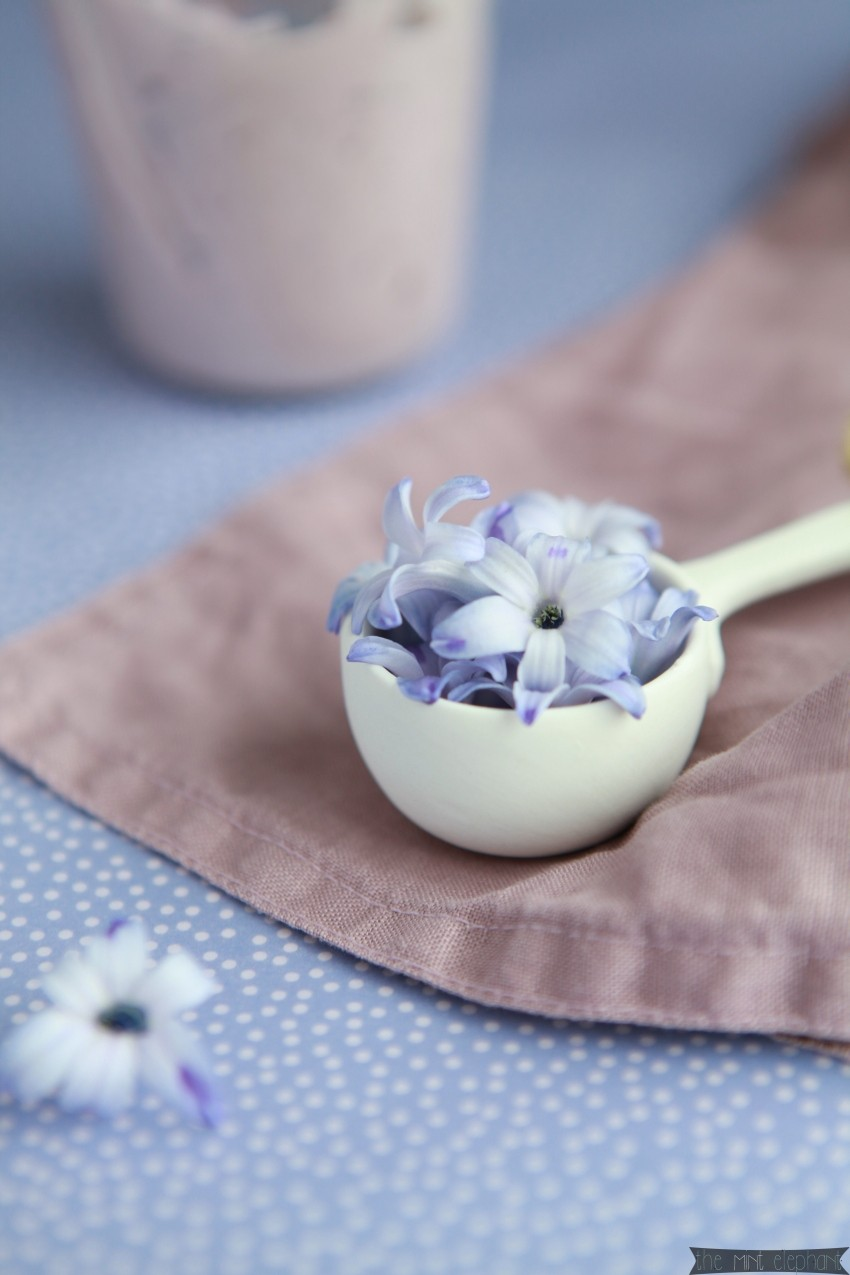 Heidelbeer Mascarpone Creme lila
