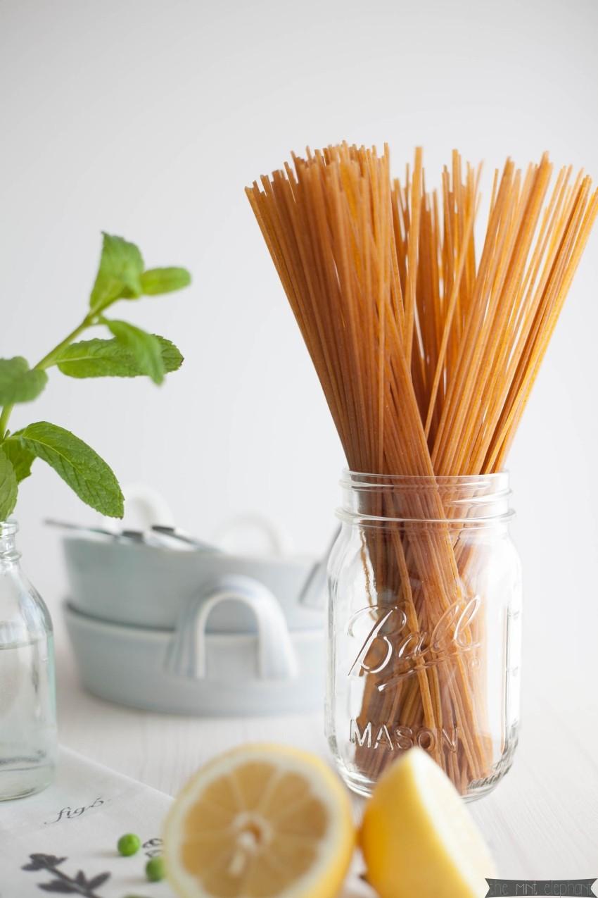 Spaghetti Carbonara mit Vollkornnudeln