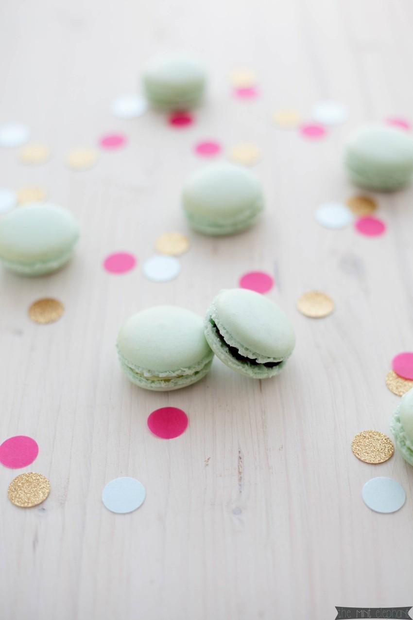 Macarons mint mit Konfetti pink und gold2