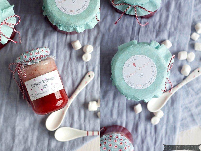 Erdbeer-Konfitüre-mit-Marshmallowcreme-Collage